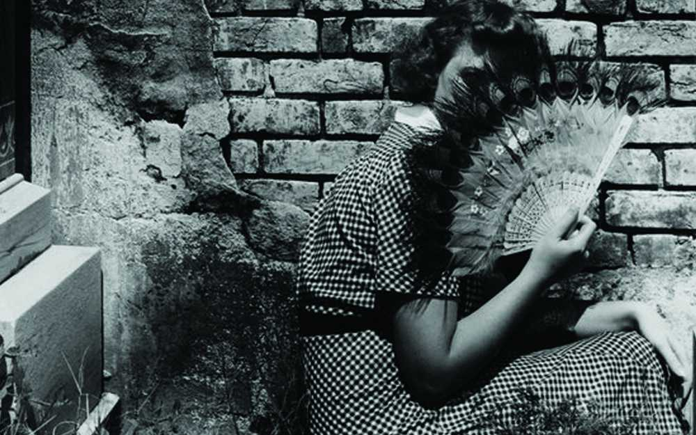 Clarence John Laughlin, _The Peacock Fan_, 1940. Collection of the Historic New Orleans Collection.