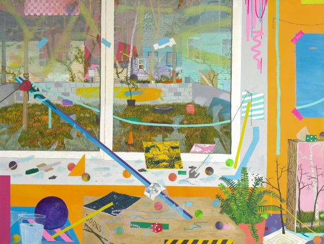 """Max Seckel's _Loose Window_, 2017, is on view as part of """"Interiors, Icons, Inheritance"""" at Antenna (3718 St. Claude Avenue)."""
