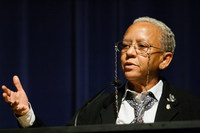 Poet Nikki Giovanni (Image via [West Virginia Public Broadcasting](http://wvpublic.org/post/poetry-break-nikki-giovanni))