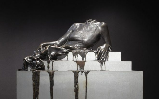 Diana Al-Hadid, _In Mortal Repose_, 2011. Bronze and concrete. Courtesy the artist and Marianne Boesky Gallery, New York.