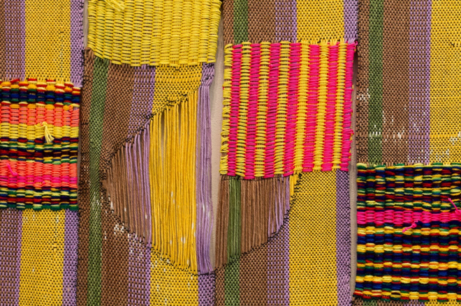 Detail of Diedrick Brackens' _holy, hole-y, wholly_, 2014. Image via the [artist's website](http://diedrickbrackens.com/artwork/3501871-holy-hole-y-wholly-detail.html).