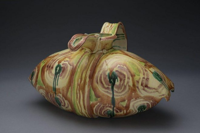 Betty Woodman, _Pillow Pitcher_, 1983. Earthenware. Promised Gift to the New Orleans Museum of Art.