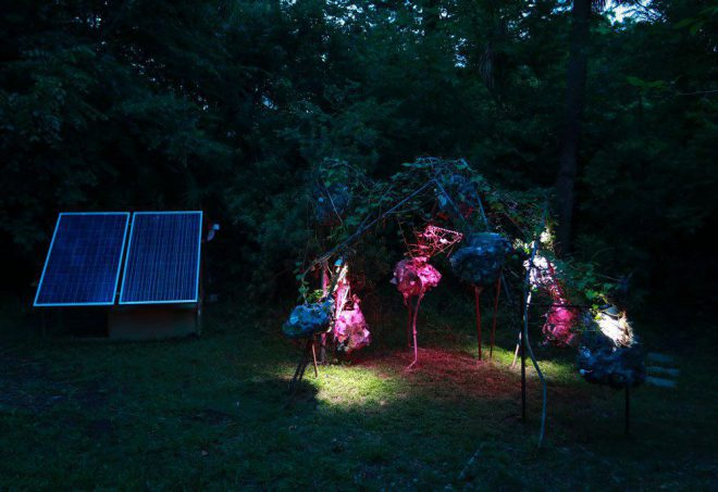 HANNAH CHALEW'S _TERRAFORMING IN THE ANTHROPOCENE_, 2018, AT GROW DAT YOUTH FARM, NEW ORLEANS. COURTESY THE ARTIST. PHOTO BY FERNANDO LOPEZ.