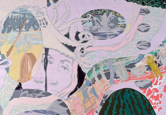 Detail of Norah Lovell's _Honorable Fruits of Labor_, 2014. Courtesy the artist and Callan Contemporary, New Orleans.