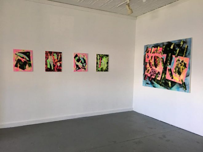"Installation view of Jessica Bizer's ""So That's What Happened"" at Good Children Gallery, New Orleans. Courtesy the artist."