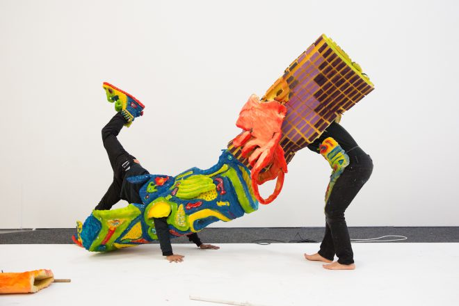 Puerto Rican collective Poncili Creación. Image via [Artsy](https://www.artsy.net/article/artsy-editorial-punk-puppeteers-making-performance-art-weird).