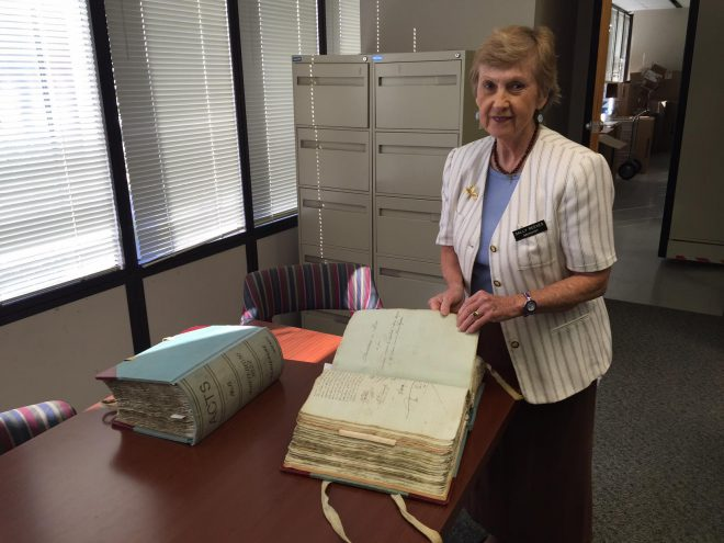 Notarial archivist Sally Reeves. Image via [Facebook](https://www.facebook.com/events/434418333677429/).