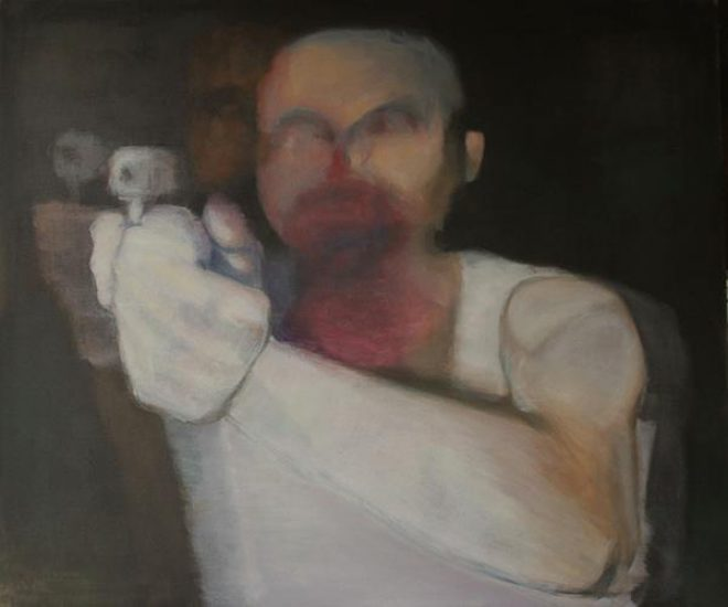 Richard Legendre, _Officer Wounded; Suspect Killed_. Oil on canvas. Courtesy the artist.