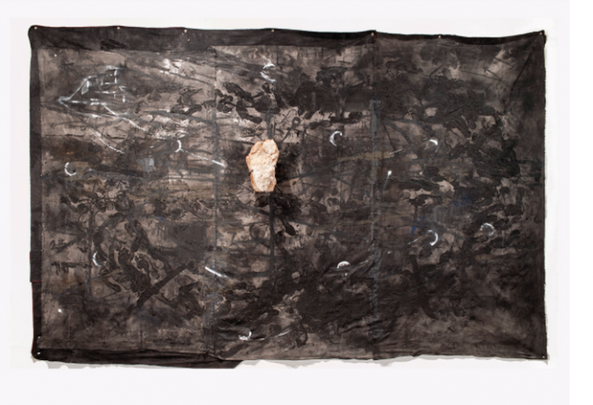 Radcliffe Bailey, _to be titled_, 2014. mixed media. Courtesy the artist and Jack Shainman Gallery, New York.