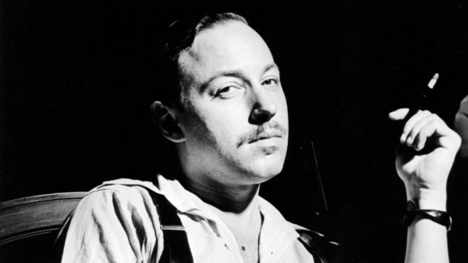Playwright Tennessee Williams. Image via the [_Los Angeles Times_](http://www.latimes.com/entertainment/arts/la-ca-cm-tennessee-williams-notebook-20160722-snap-story.html#).