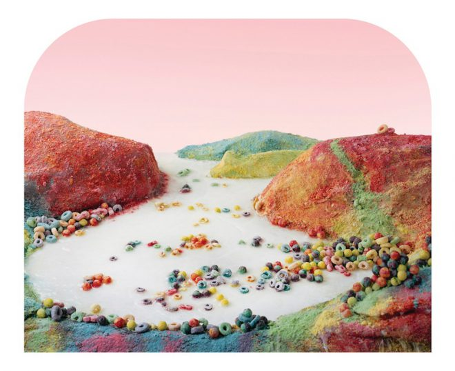 Barbara Ciurej and Lindsay Lochman, _Fruit Loops Landscape_, 2014, on view at Martine Chaisson Gallery, New Orleans.
