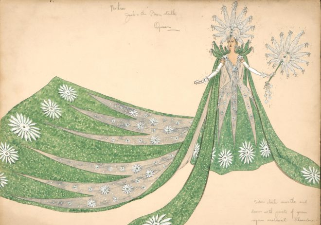 Helen Clark Warren, Costume sketch for the Queen of High Priests of Mithras, 1946. Courtesy the Louisiana State Museum.