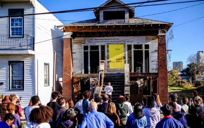 Arts initiative Blights Out was a 2015 Platforms Fund grant recipient.