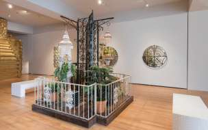 "Installation view of Carlos Rolón's ""Outside/In"" at the New Orleans Museum of Art. Courtesy the artist."