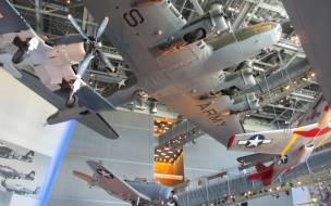The interior of the National WWII Museum in New Orleans.