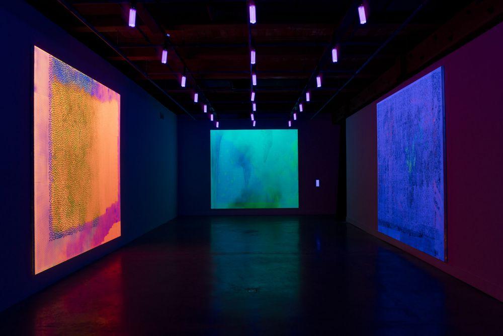 Jacqueline Humphries Black Light Paintings